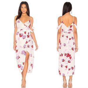 Bardot Camellia Floral Off Shoulder Stencil Dress